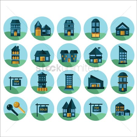 Sold : Collection of house related icons