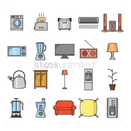 Washing machine : Collection of household appliances