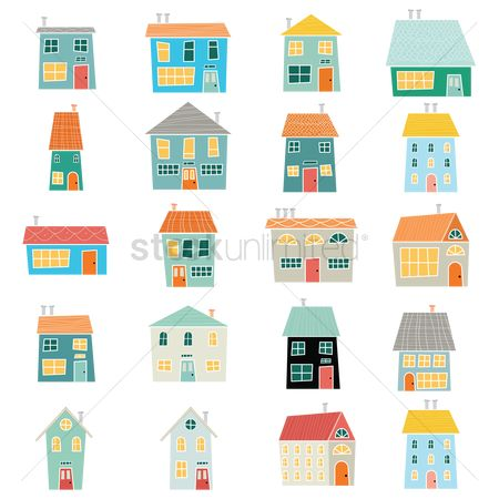 Cartoon : Collection of houses