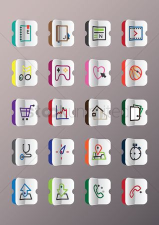 Heart shape : Collection of icons