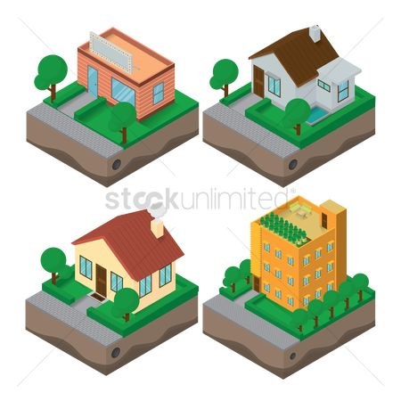 Store : Collection of isometric building
