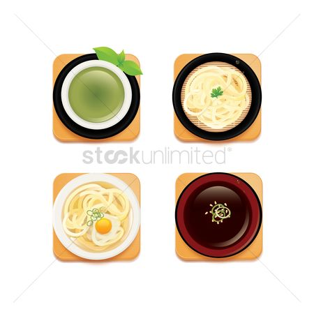 Japanese cuisines : Collection of japanese food