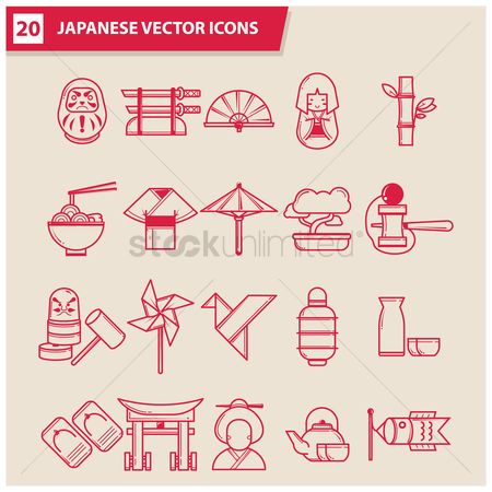 Teapot : Collection of japanese icons