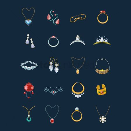 Jewelleries : Collection of jewelry