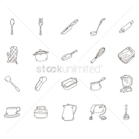 Mitten : Collection of kitchen icons