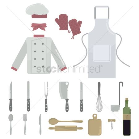 Chef : Collection of kitchen related objects