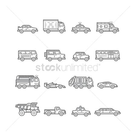 Race : Collection of land vehicles
