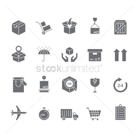 Needle : Collection of logistic icons