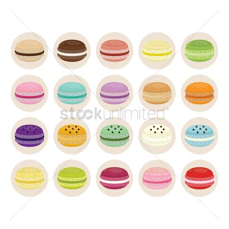Cookie : Collection of macarons