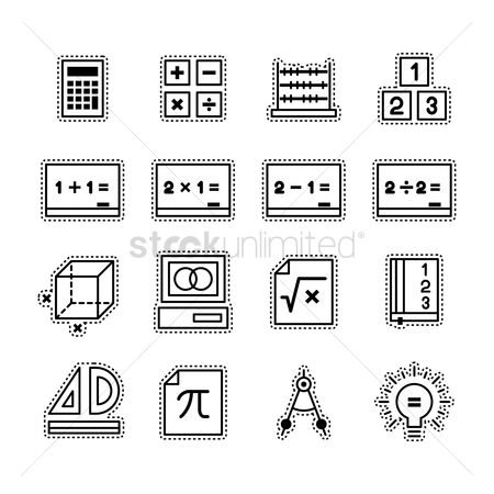 Calculations : Collection of mathematical icons