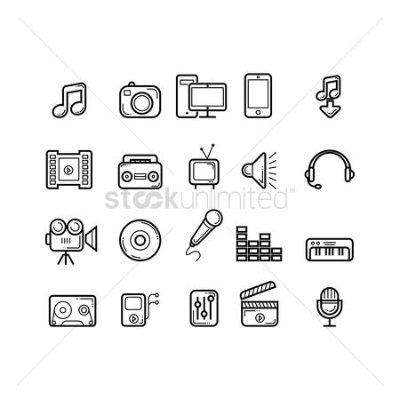Appliances : Collection of media icons