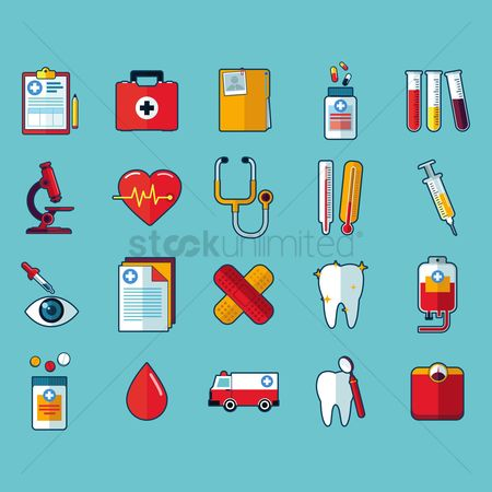 Dentist : Collection of medical icon set