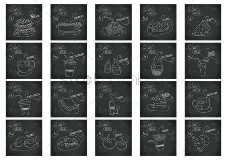 Blackboard : Collection of menu special design