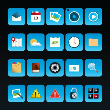 Calculations : Collection of mobile app icons