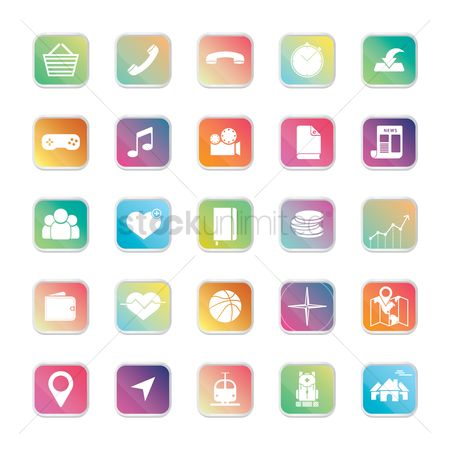 Icons news : Collection of mobile apps