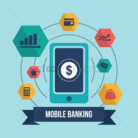 Increase : Collection of mobile banking icons