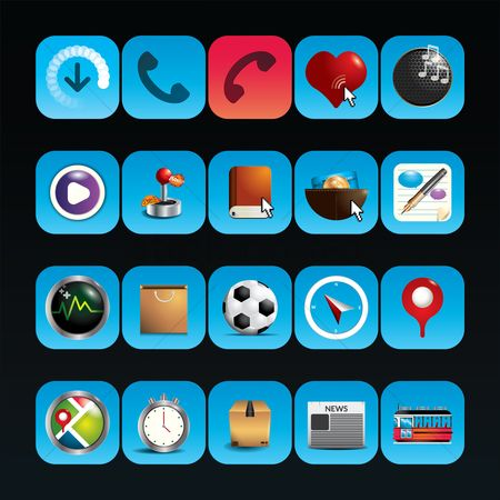 Favourites : Collection of mobile icons