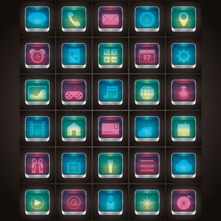 Videos : Collection of mobile icons