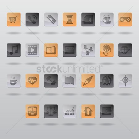 Sand clock : Collection of mobile icons