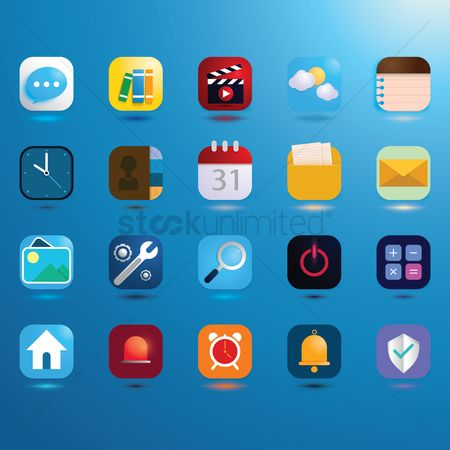User interface : Collection of mobile icons
