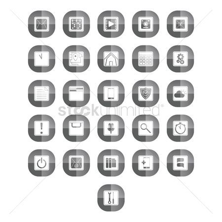 Calculations : Collection of mobile icons