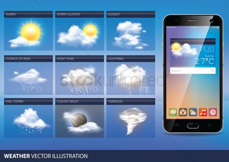 Temperatures : Collection of mobile weather widget