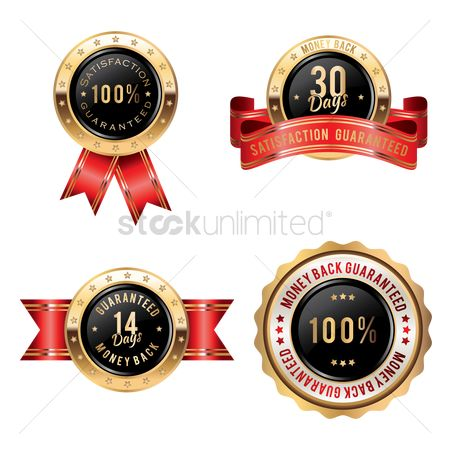 Products : Collection of money back guaranteed badges
