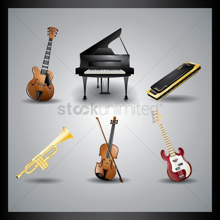 Musicals : Collection of music instruments