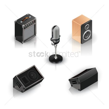 Microphones : Collection of musical equipment