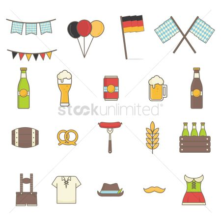 Drums : Collection of octoberfest icons