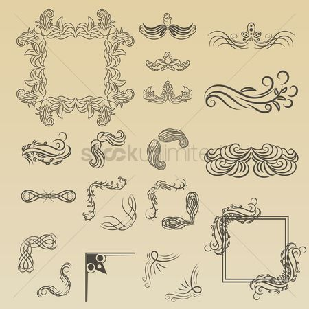 Picture : Collection of ornamental frame designs