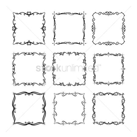 Classic : Collection of ornamental frames