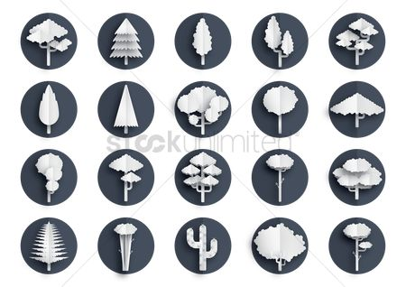 Cactus : Collection of paper trees