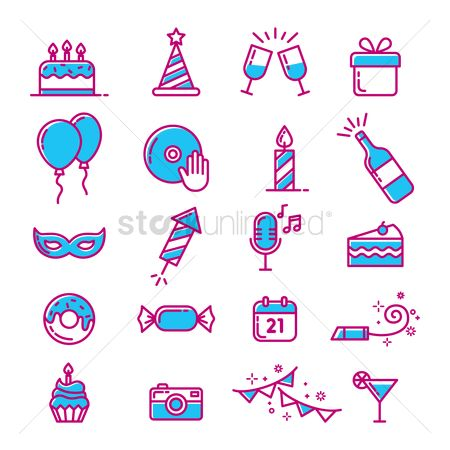 Champagnes : Collection of party icons