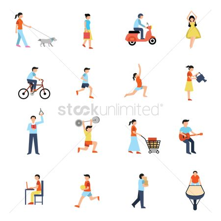 Scooters : Collection of people and activities