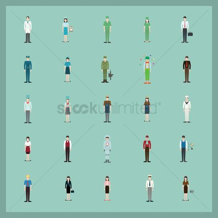Medical : Collection of people and occupation