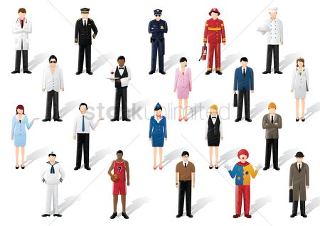 Character : Collection of people and occupation