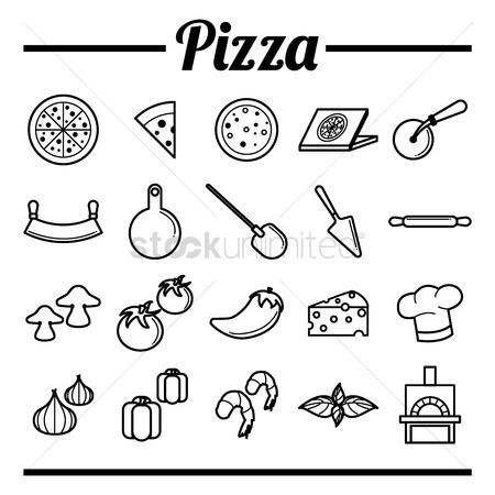 Cutters : Collection of pizza icons