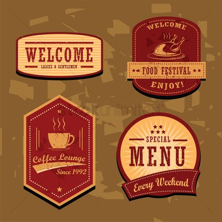 Festival : Collection of restaurant labels