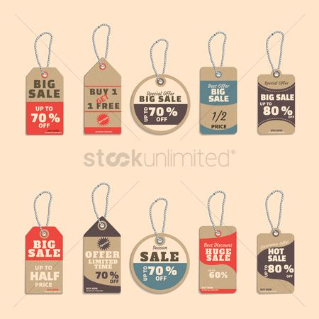 Huge : Collection of sale tags
