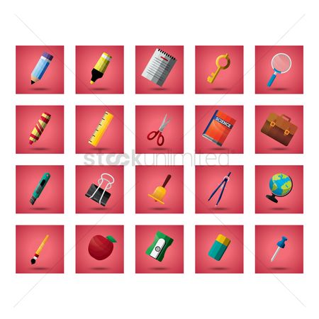 Apple : Collection of school icons