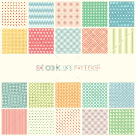 Patterns : Collection of seamless background