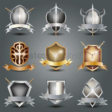 Shine : Collection of shield emblems