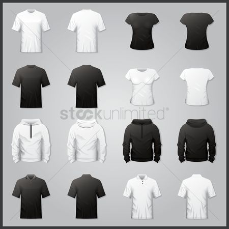 Fashions : Collection of shirts and hoodies