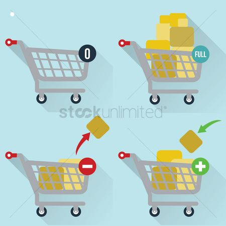 Hypermarket : Collection of shopping carts