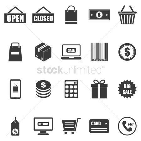 Stack : Collection of shopping icons
