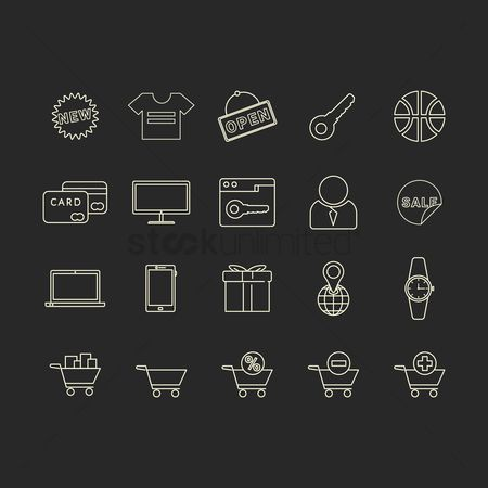 Minus : Collection of shopping icons