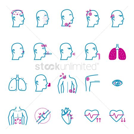 Health : Collection of sick icons