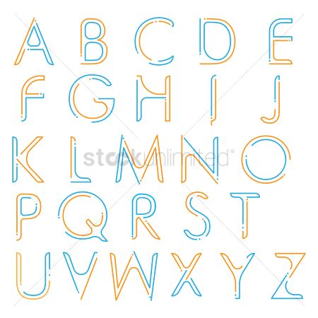 Fonts : Collection of simple letters