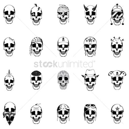 Sketching : Collection of skulls